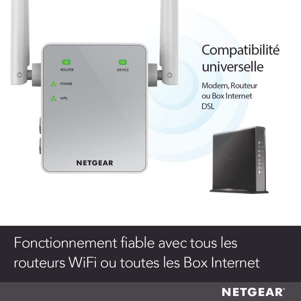 NETGEAR Répéteur WiFi (EX6120)