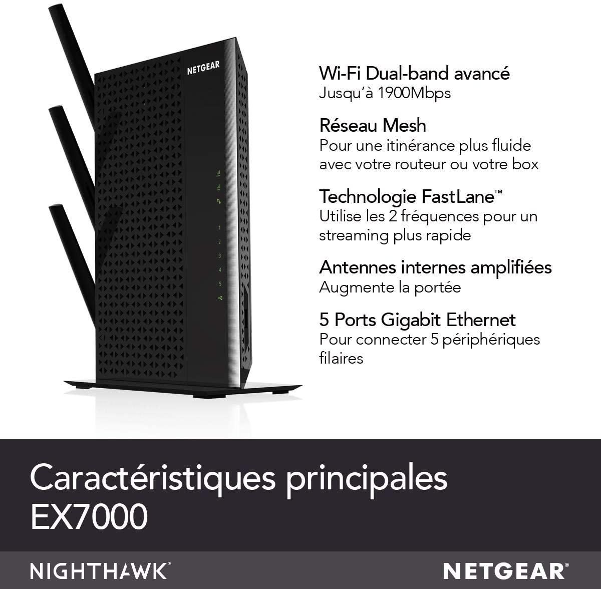 NETGEAR Répéteur Wifi Mesh EX7000