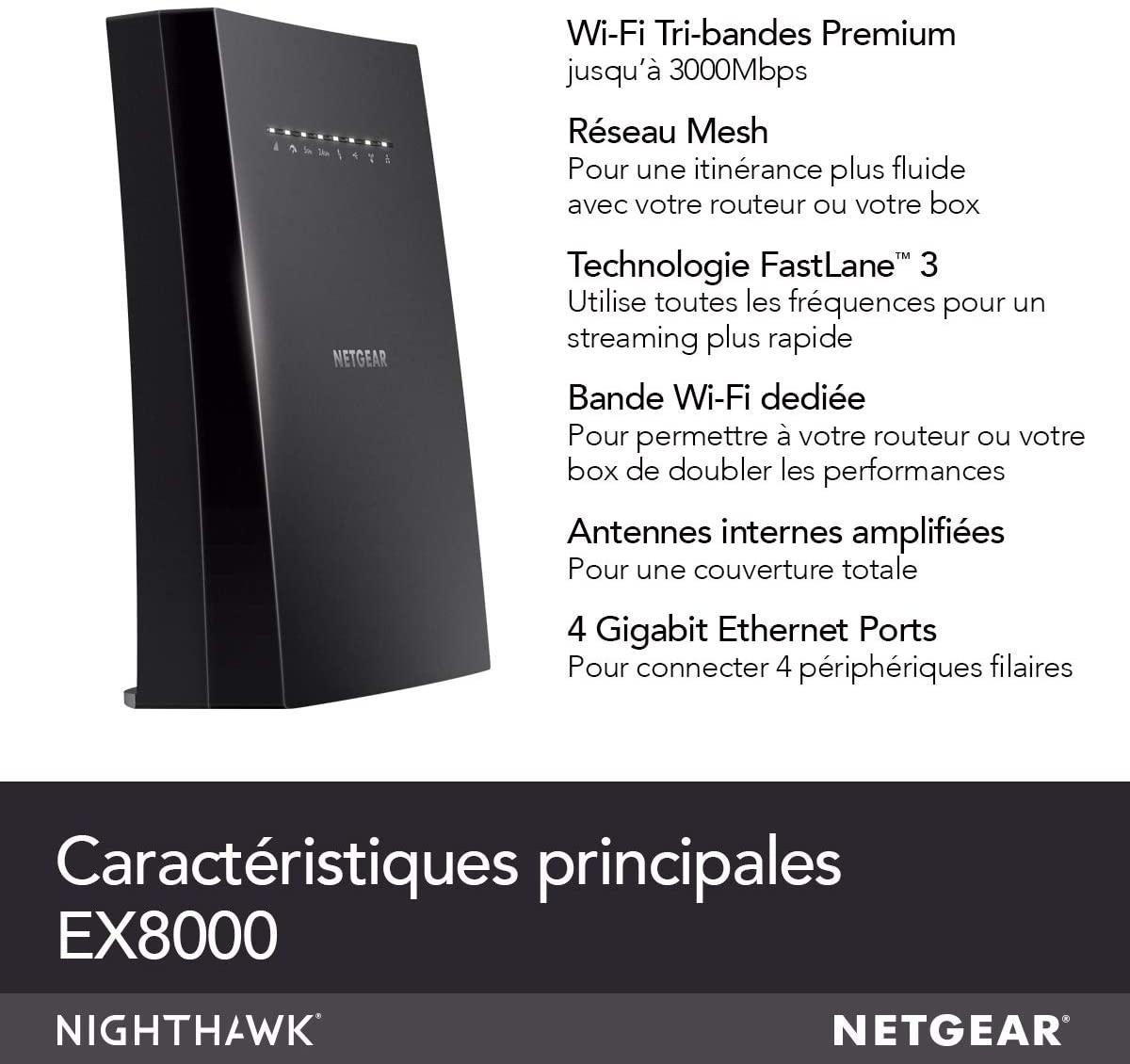 NETGEAR Répéteur Wifi Mesh EX8000